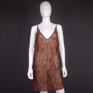 Victoria's Secret L Sheer Leopard Print Slip Dress